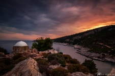 Griechenland-Thassos-Sonnenuntergang