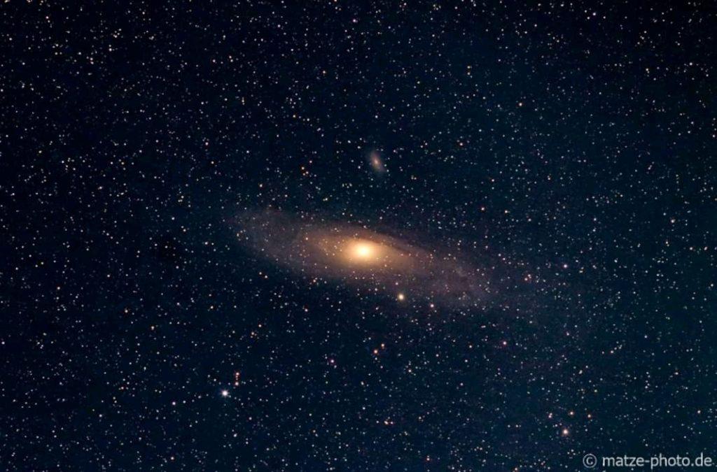 Astrofotografie in der Altmark. Hier ist die Andromeda-Galaxie zu sehen.