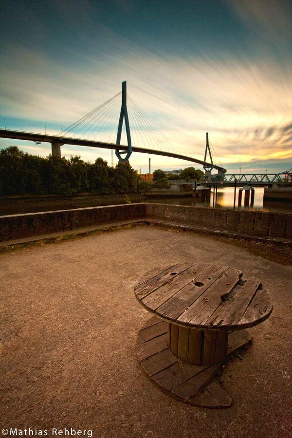 Etwas andere Perspektive auf die Köhlbrandbrücke