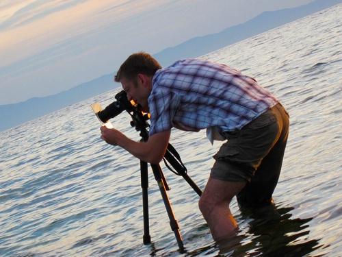 Mathias Rehberg beim Fotografieren
