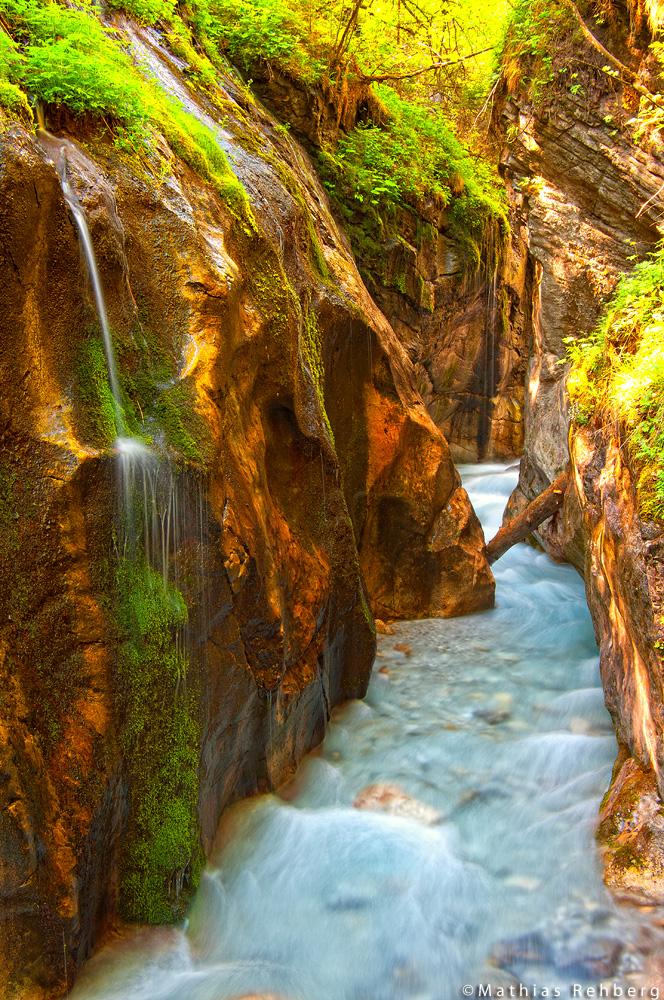 Eine Klamm im Berchtesgadener Land