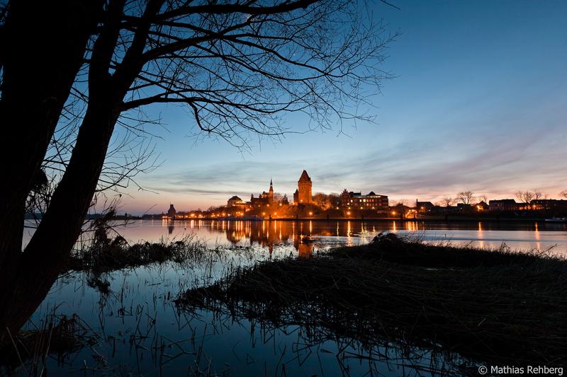 Die Altmark - Ein Bild von Tangermünde an der Elbe.
