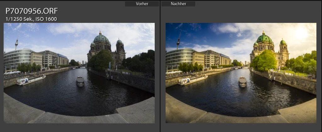 Mit der NIK Collection nachgearbeitetes Foto von Berlin.